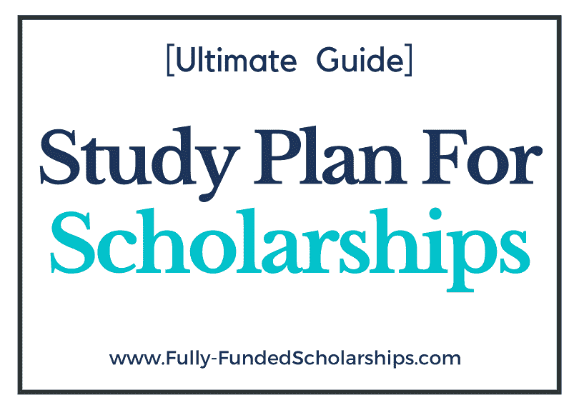 Study Plan for Scholarships Win a Scholarship with this Study Plan Guide!