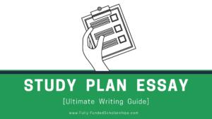 Study Plan Essay Win a Scholarship by Writing a Winning Study Plan Essay