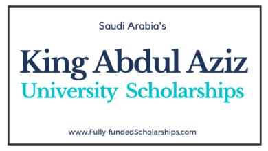 King Abdul Aziz University Scholarships 2022 Submit Online Application