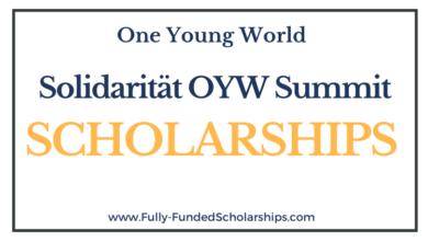 Solidarität Scholarship One Young World Summit 2021