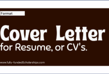 Cover Letters for Resume, Curriculum vitae (CV) Format, and Samples