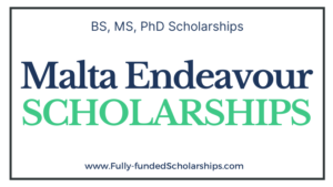 Malta Endeavour Scholarships 2022-2023 Online Application Submission