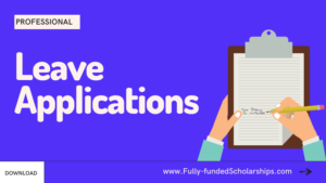 Leave Applications for Work, College, School, and University with Samples and Definitions