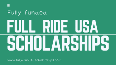 Full Ride Scholarships for Class of Online Application Form Fully-funded