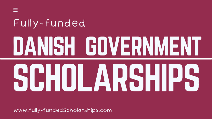 Fully-funded Danish Government Scholarships Online Application Form