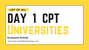 List of Day 1 CPT Universities in the USA Top 20