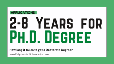 You Need 2 to 8 Years for a Ph.D. Degree Completion Explanation Article